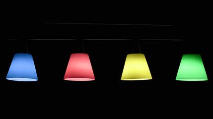 lustre design multicolore