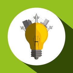 Eco icon design, vector illustration