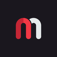M letter logo icon design template. Graphic alphabet symbol for corporate business identity. Creative Typographic icon concept