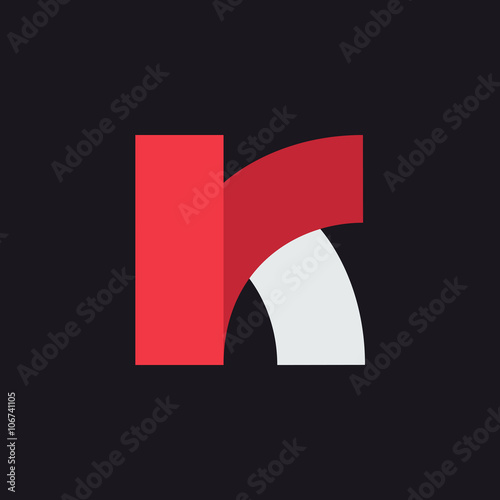 K Letter Logo Design Template Graphic Alphabet Symbol For Corporate Business Identity Creative Typographic