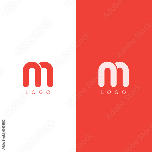 u0026quot;M Letter Logo design template in red color. Graphic ...
