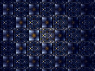 Abstract square pattern - digitally generated image