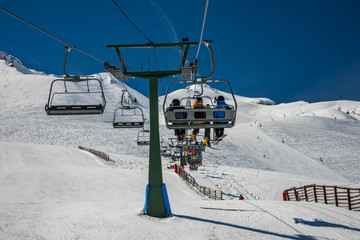Chairlift in winter resort from formigal