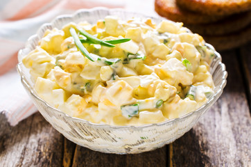 Egg salad with chives