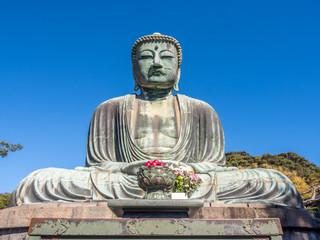 Great Buddha statue Daibutsu at Kamakura