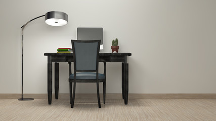 Workroom Simple and good look / 3d