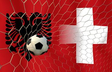 Soccer Euro 2016 ( Football )  Albanai  and Switzerland