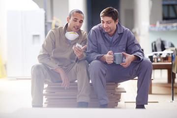 Woodwork, Carpenters taking a coffee break