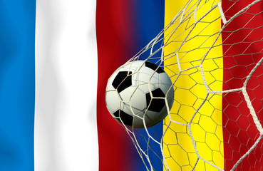 Soccer Euro 2016 ( Football )  France and Romania