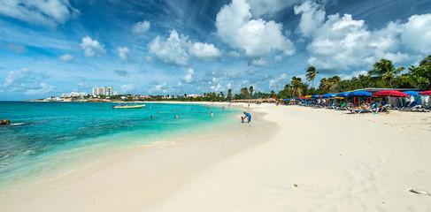 Saint Martin beach, Caribbean sea