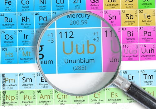 Ununnium copernicium symbol uub element of the periodic table ununnium copernicium symbol uub element of the periodic table zoomed with magnifying urtaz Gallery