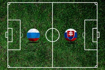 Soccer Euro 2016 ( Football )  Russia  and Slovakia