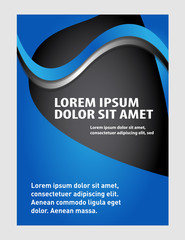 Stylish presentation cover layout template. Brochure or flyer