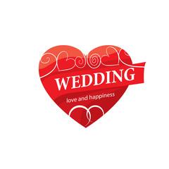 vector logo wedding