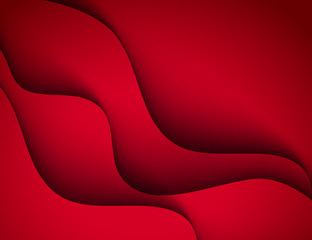 Red vector Template Abstract background with curves lines and shadow. For flyer, brochure, booklet, websites design