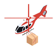 Isometric delivery helicopter