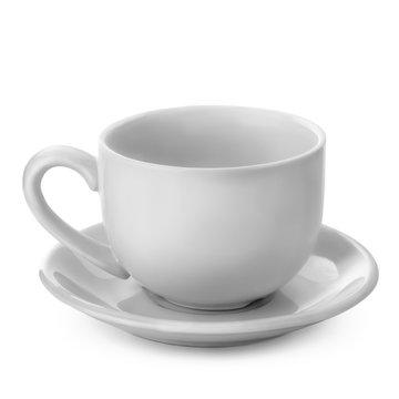 white mug isolated