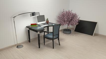 Workroom Simple and good look / 3d rendering image