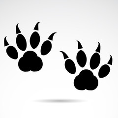 Cat vector paws. Foot print vector icon.