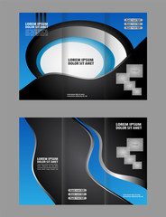 Tri-fold brochure design with soft wave