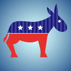 Election donkey. Vote