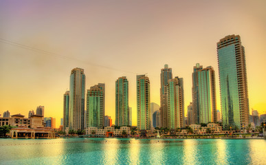 Sunset in Dubai Downtown, United Arab Emirates