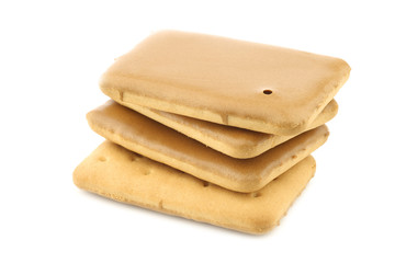 """bunch of stacked traditional dutch cookies called """"cafe noir"""" on a white background"""