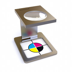 3D CMYK register mark