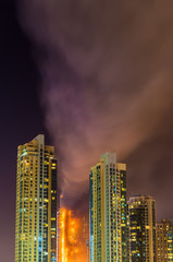 Fire accident in Dubai on New Year's Eve 2016