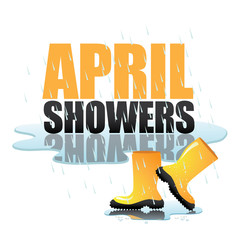 April showers bring May flowers design EPS 10 vector royalty free stock illustration