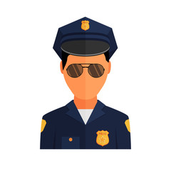 Police officer avatar illustration. Trendy policeman icon