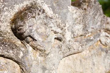 Old crucifix gravestone