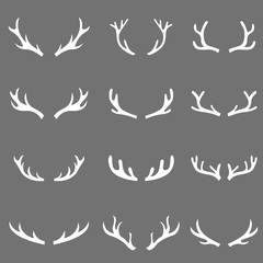 hand drawn deer set