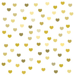 heart gold pattern background