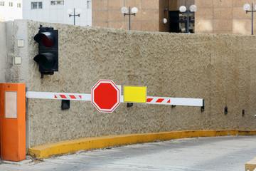 Barrier on parking lot