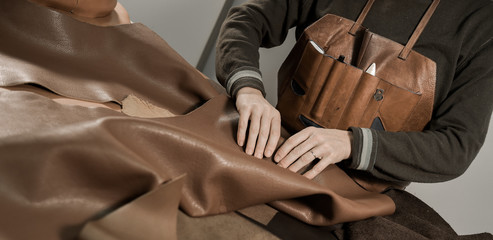 Trunk Maker at work in his luxury leather workshop