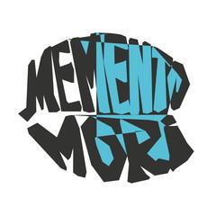 Memento Mori. Latin proverb.Vector illustration.