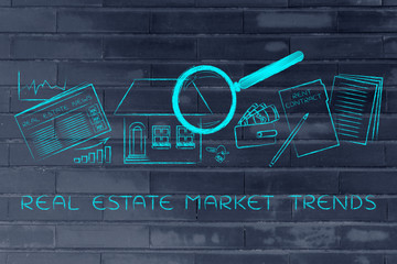 house, real estate data and rent contract, real estate market tr