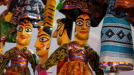 Colorful Indian puppets for sale - Indian Dolls