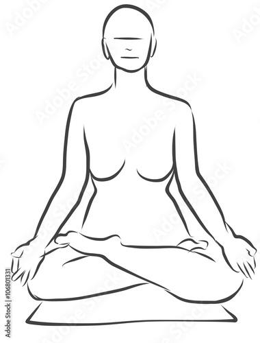 Supta Vajrasana, Diamant, Yoga - vajra Pose