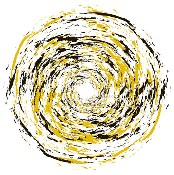 Black and yellow circle grunge