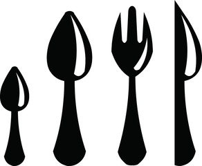 vector knife, fork and spoon