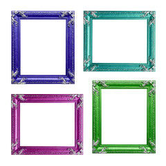 Four contemporary picture frames in high resolution vibrant colo