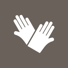 Gloves Icon on Dark Gray Color. Eps-10.
