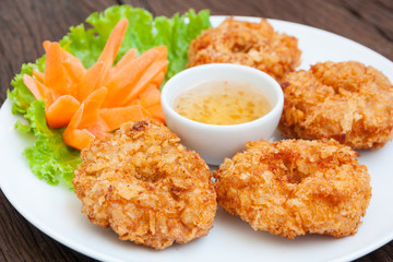 Fried shrimp cake, Thai food name is Tod Mun Goong - Buy
