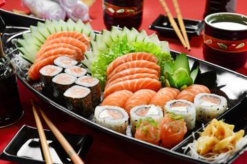 Printed roller blinds Sushi bar Japanese food boat