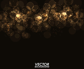 Abstract modern gold bokeh digital - Vector Background.