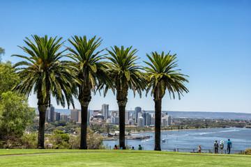 Kings Park overlooking Perth in Western Australia