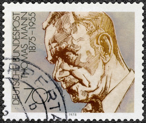 GEMANY - 1978: shows Paul Thomas Mann, dramatist and novelist