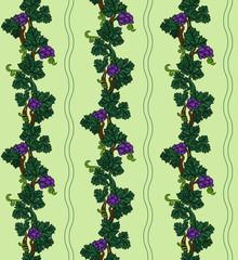 Grapevine seamless pattern